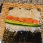 salmon kimbap