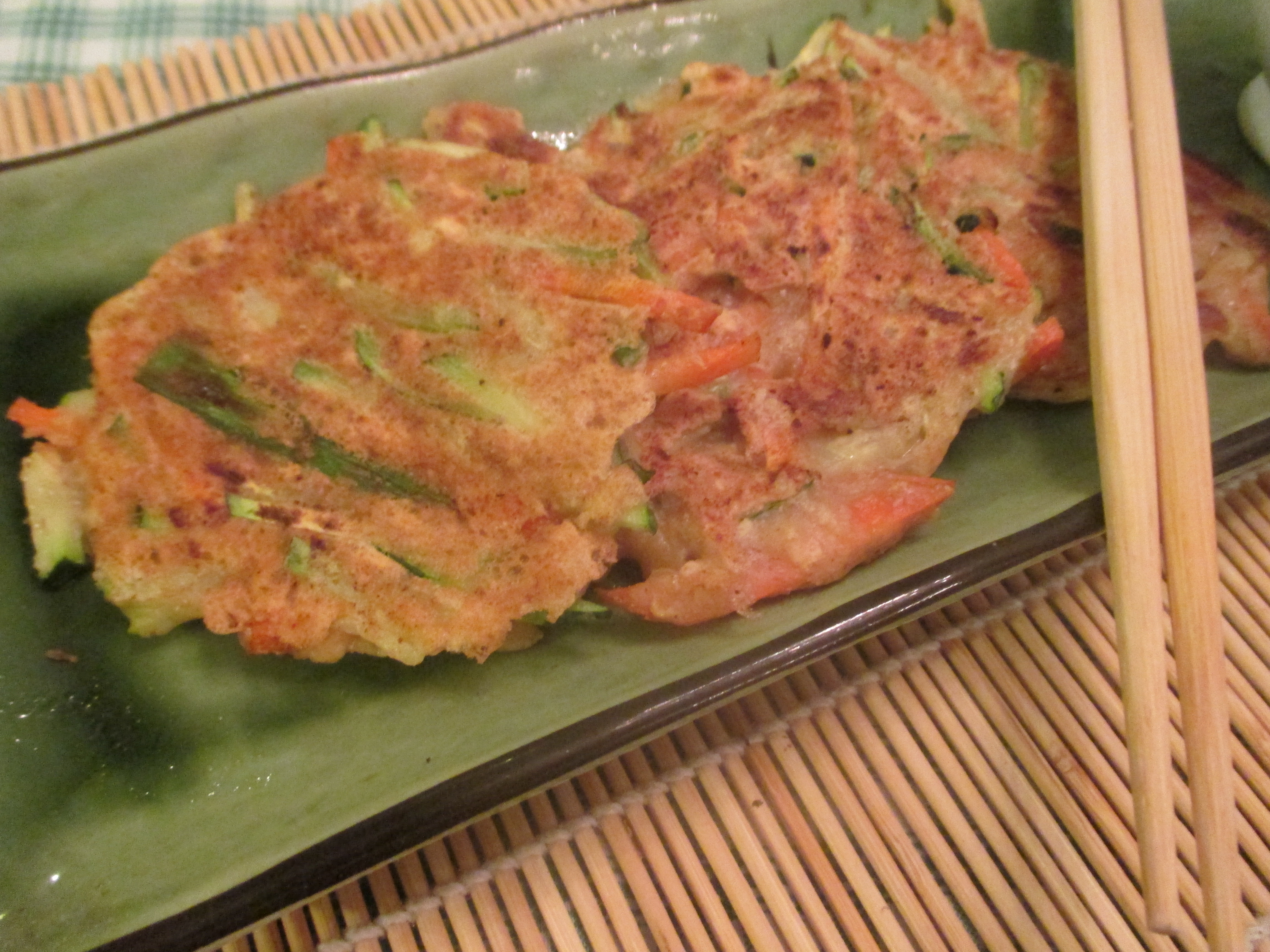 Korean lentil veggie pancakes
