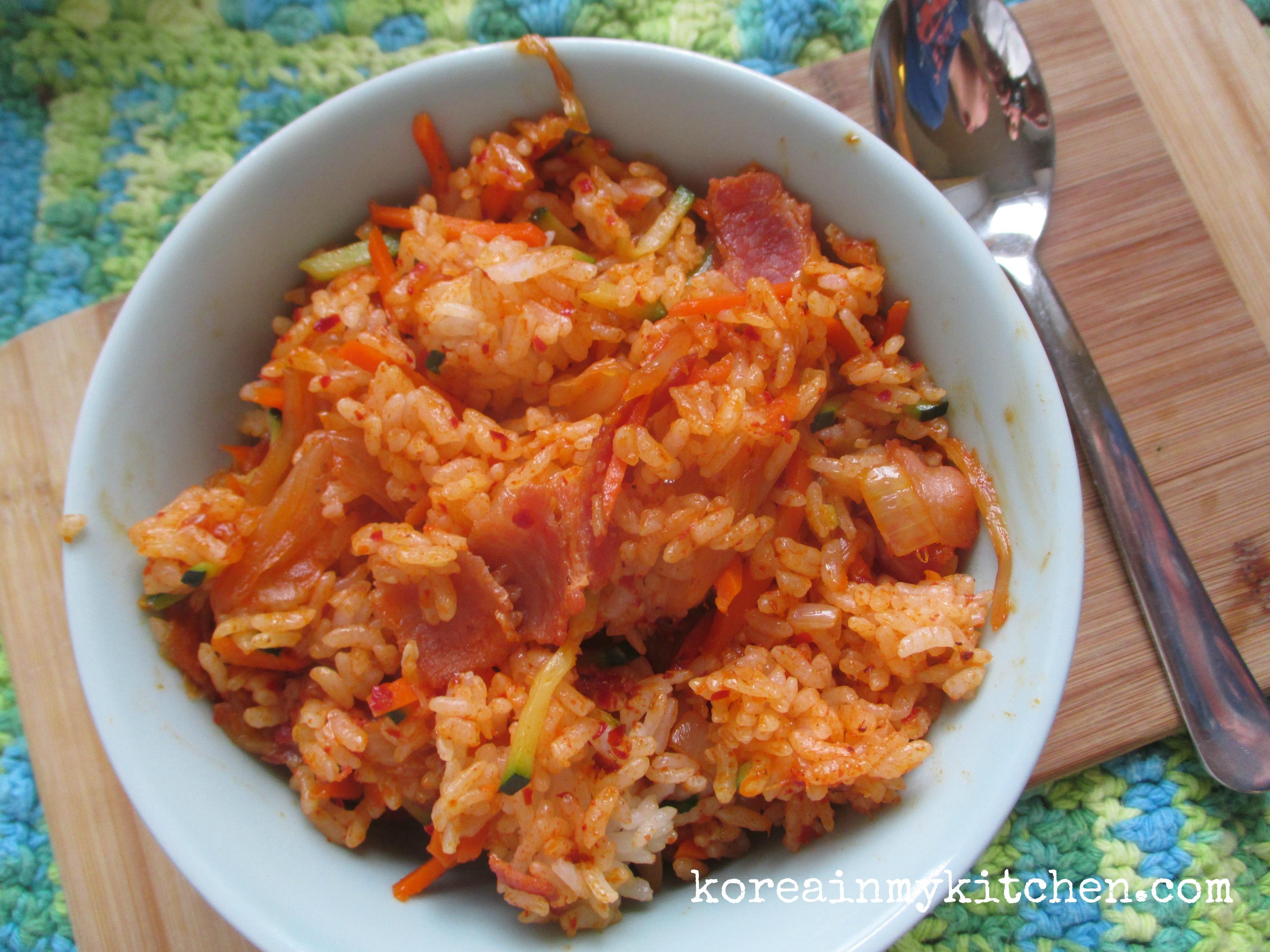 Kimchi bokumbap with bacon
