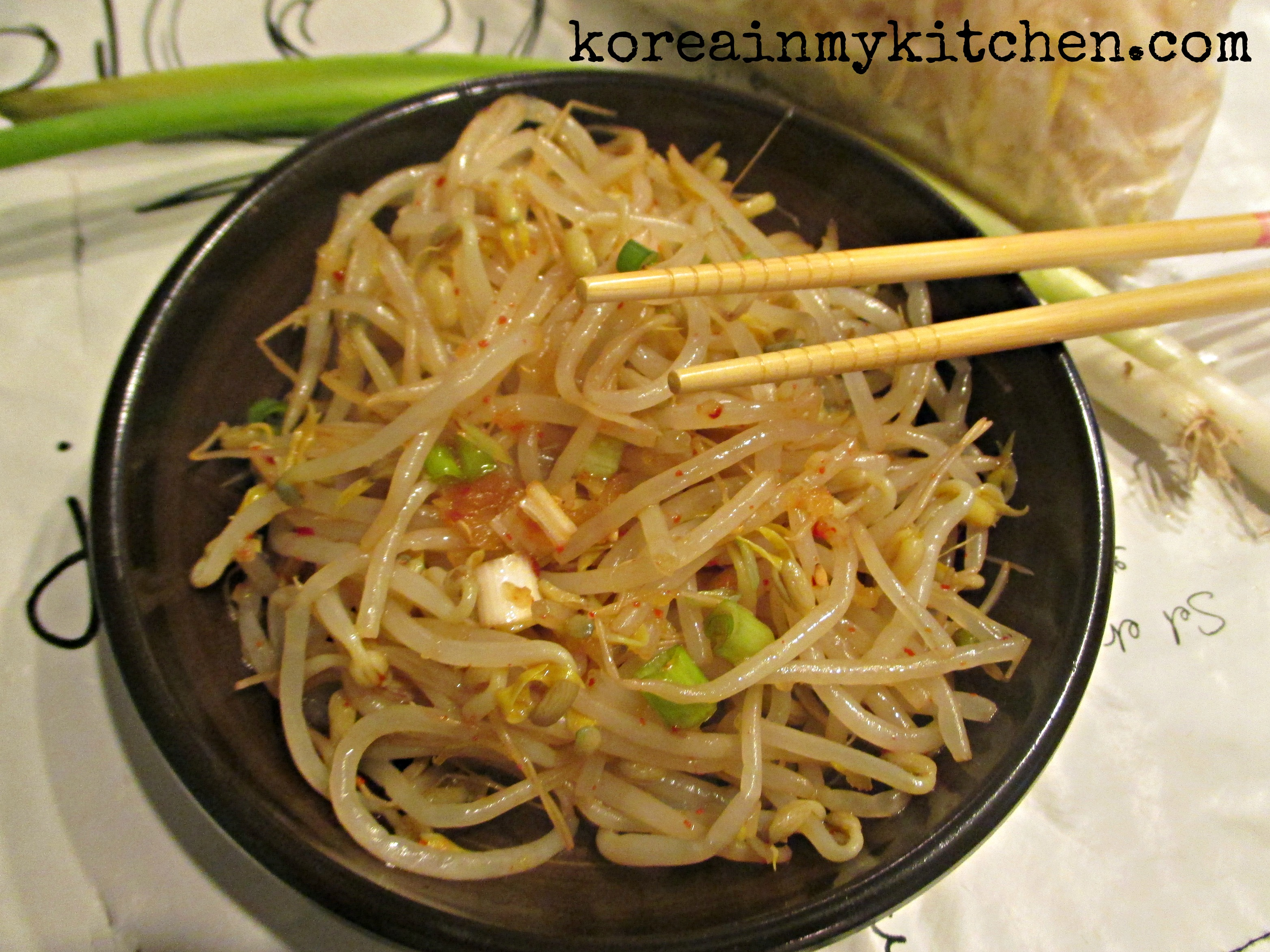 Bean sprout side dish